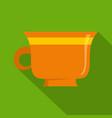 coffee cup icon flat style vector image vector image
