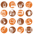 color electronic devices icons vector image vector image