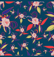 colorful floral print seamless pattern vector image vector image