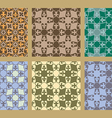 Colorful pastel set of seamless floral patterns vector image