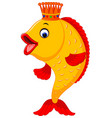 cute fish cartoon vector image vector image