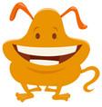 cute orange fantasy cartoon character vector image vector image