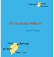 democratic republic sao tome and principe - map vector image vector image