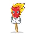 devil match stick mascot cartoon vector image vector image