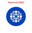diamond dmd logo vector image