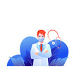 doctor icon on a white background vector image