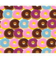 Donuts seamless pattern Chocolate and strawberry