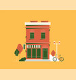 downtown building isolated on background vector image vector image