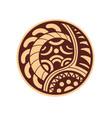 ethnic style sticker vector image