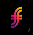 f and monogram intertwined letters double vector image