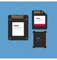 flash storage sd card SSD memory vector image