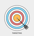 Flat design concept for Targeting for web b vector image