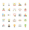flat icons pack of vote and rewards vector image