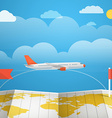 Flying aircraft vacation concept Flat design vector image vector image