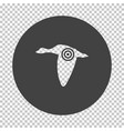 flying duck silhouette with target icon vector image vector image
