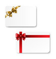 gift card color bow isolated vector image