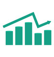 graph growth falls and profits vector image