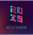 hallo new summer 2019 party futuristic abstract vector image vector image