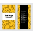 hand drawn hot dog menu Vintage hand vector image