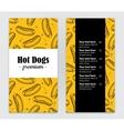 hand drawn hot dog menu vintage vector image