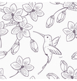 Hand drawn monochrome version of seamless pattern vector image vector image