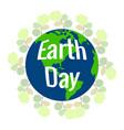 happy earth day vector image vector image