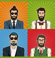 hipsters mens with accesories vector image