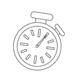 isolated chronometer design time concept vector image