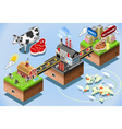 Isometric Infographic Beef Distribution Chain vector image vector image