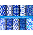 kaleidoscope decorative blue backgrounds vector image