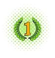Laurel wreath icon comics style vector image vector image