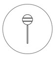 lollipop icon black color in circle isolated vector image vector image