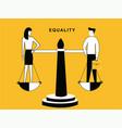 man and woman on balance vector image vector image