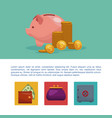 money and business infographic vector image