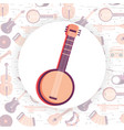 music instrument cartoon vector image vector image