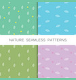 nature seamless patterns by hand vector image vector image
