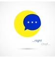 Night chat bubble vector image