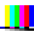 no signal tv test card color bars vector image vector image