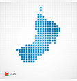 oman map and flag icon vector image