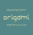 origami font alphabet vector image