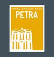 petra maan governorate jordan monument landmark vector image vector image