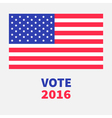 President election day 2016 Voting concept Big vector image vector image
