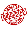 quickstep round red grunge stamp vector image vector image