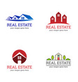 real estate property agent housing logo vector image vector image
