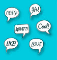 retro comic speech bubbles pop art vector image vector image