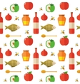 Seamless pattern for Jewish New Year Holiday Rosh vector image vector image
