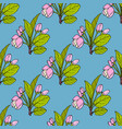seamless pattern with apple flowers and leaves vector image vector image