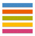 set of multicolored school measuring rulers with vector image