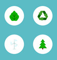 set of nature icons flat style symbols with vector image