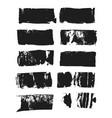 set of rectangular text box grunge paint stripe vector image
